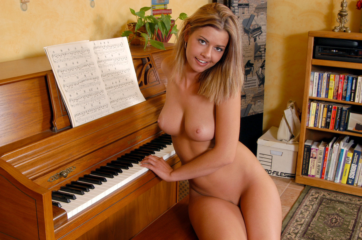 Nude on piano